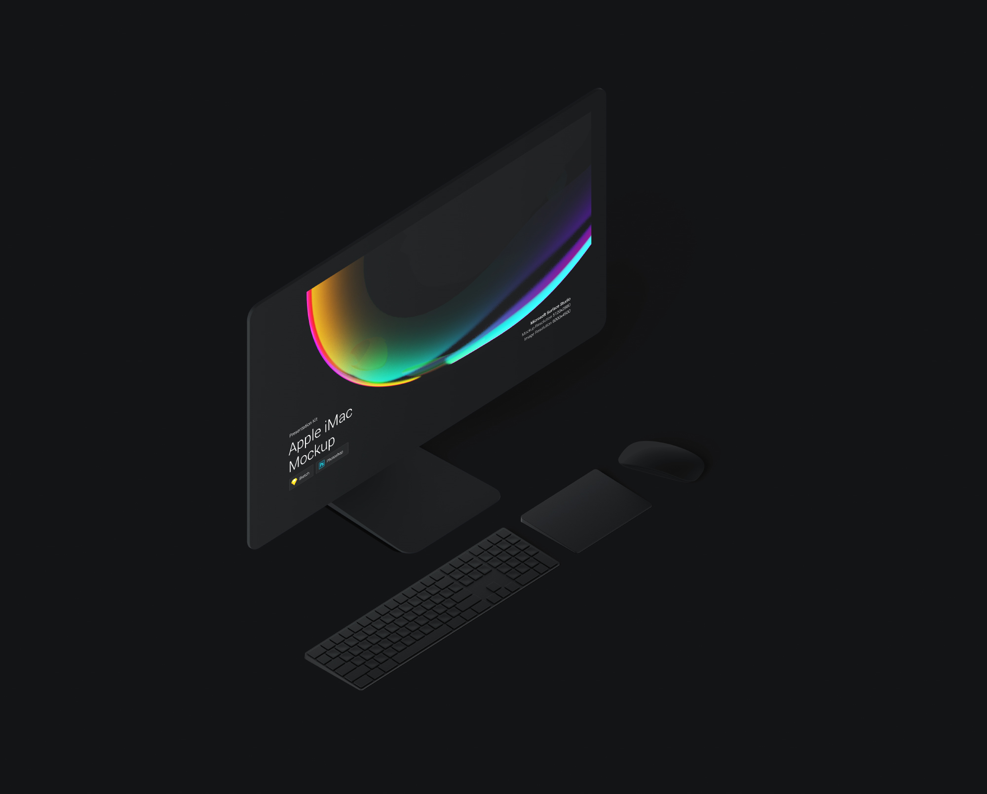 Download iMac Pro Mockup for Sketch and Photoshop