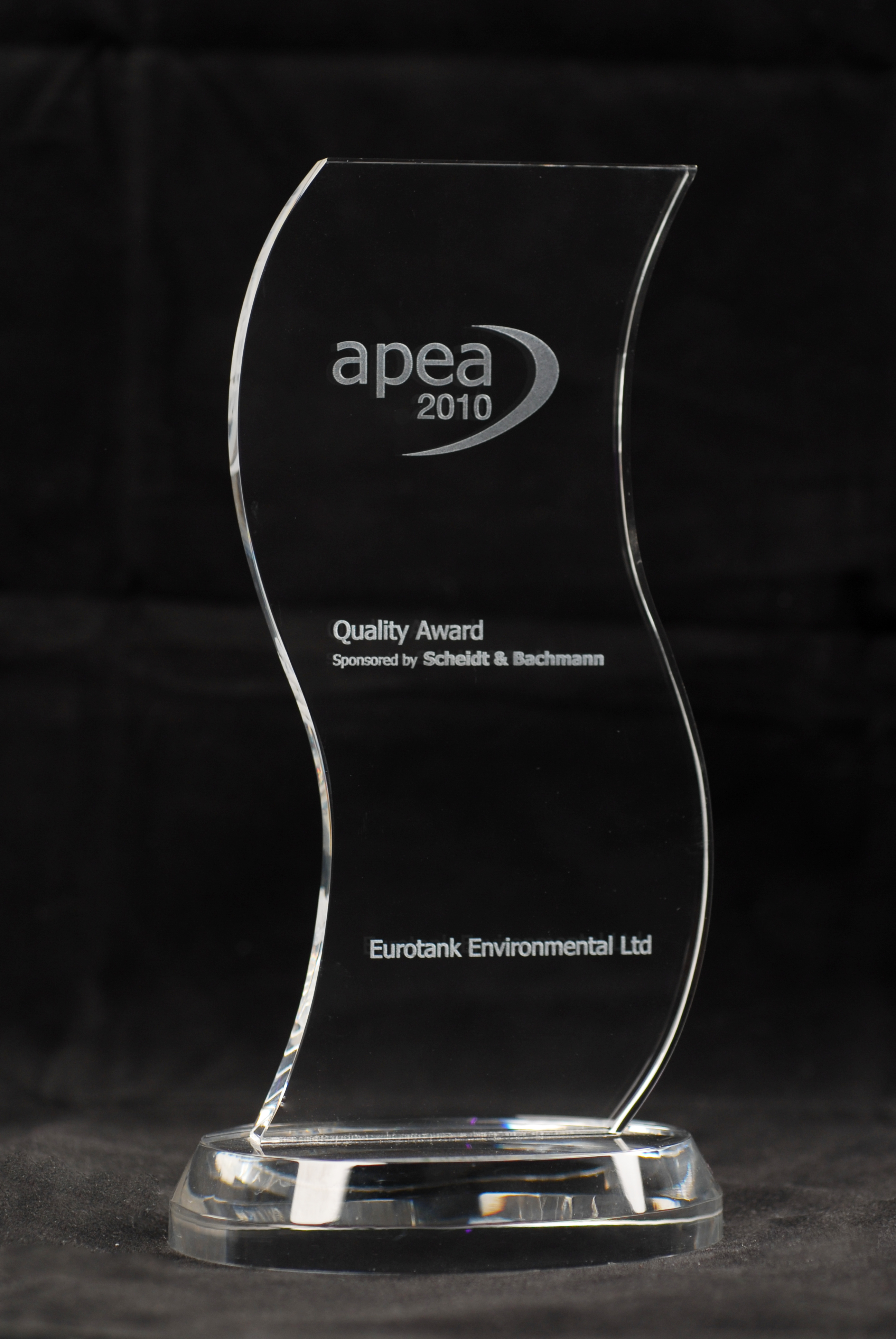 APEA Quality Award for safely degassing a fuel tank