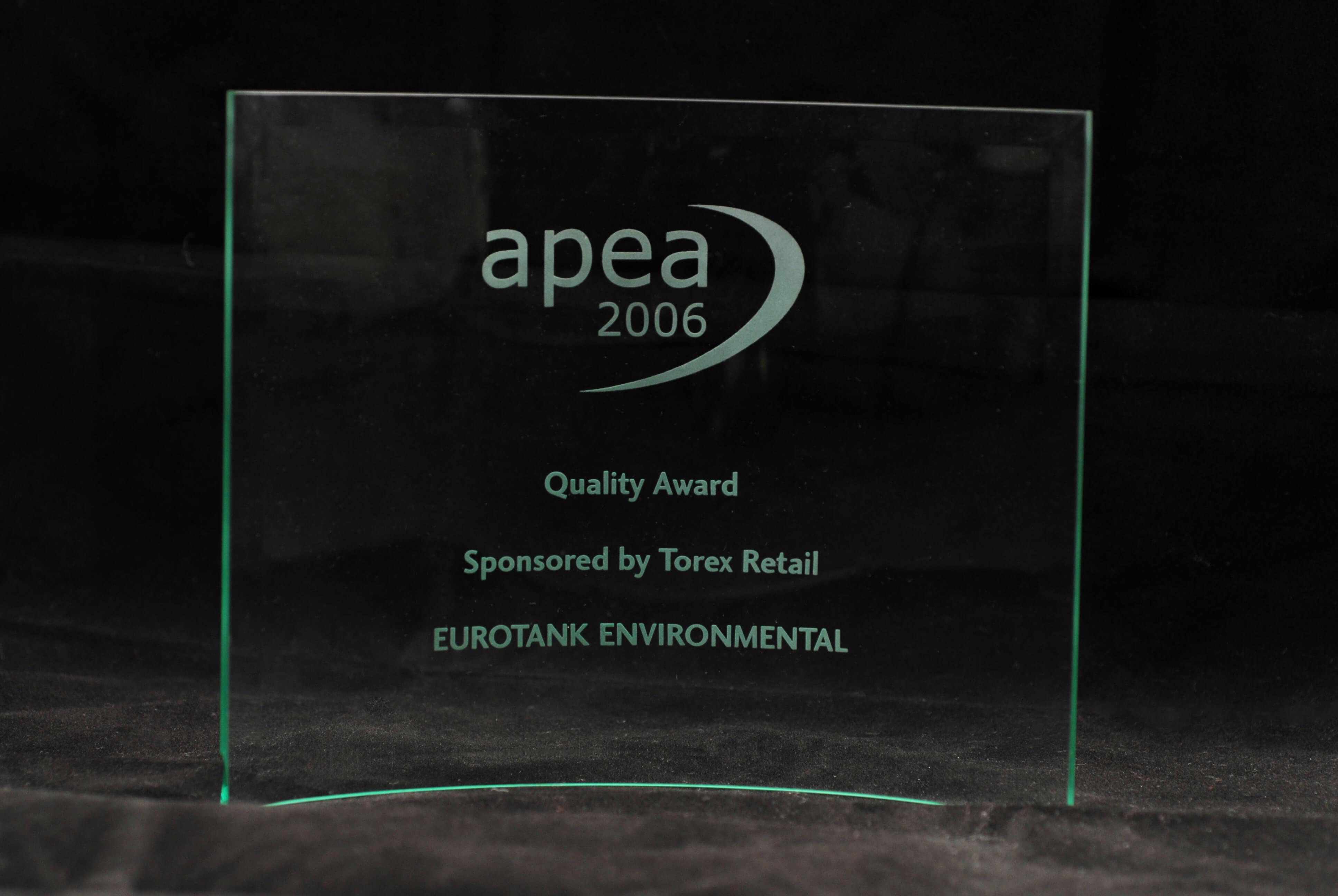 APEA Quality Award for development
