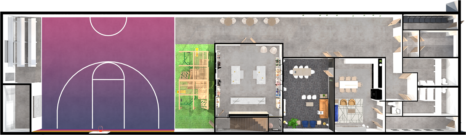 Building floor plan rendering