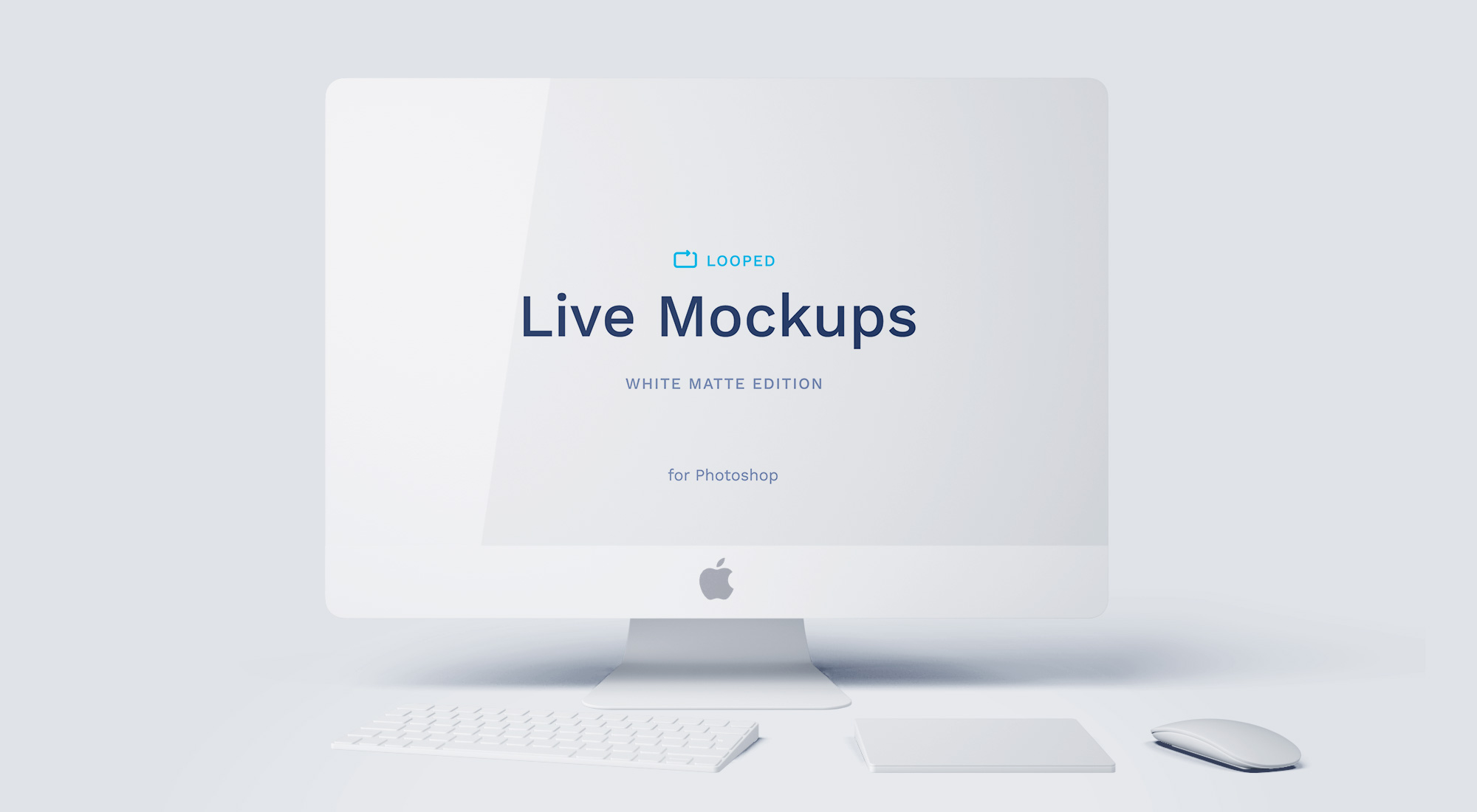 8 White Clay Apple Devices Mockups
