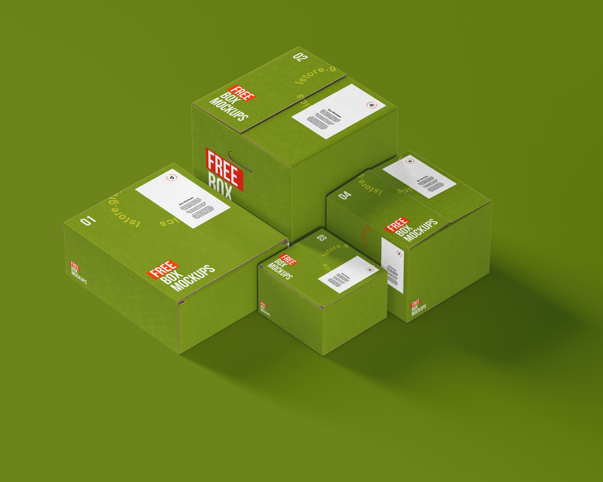 7 Boxes Mockups