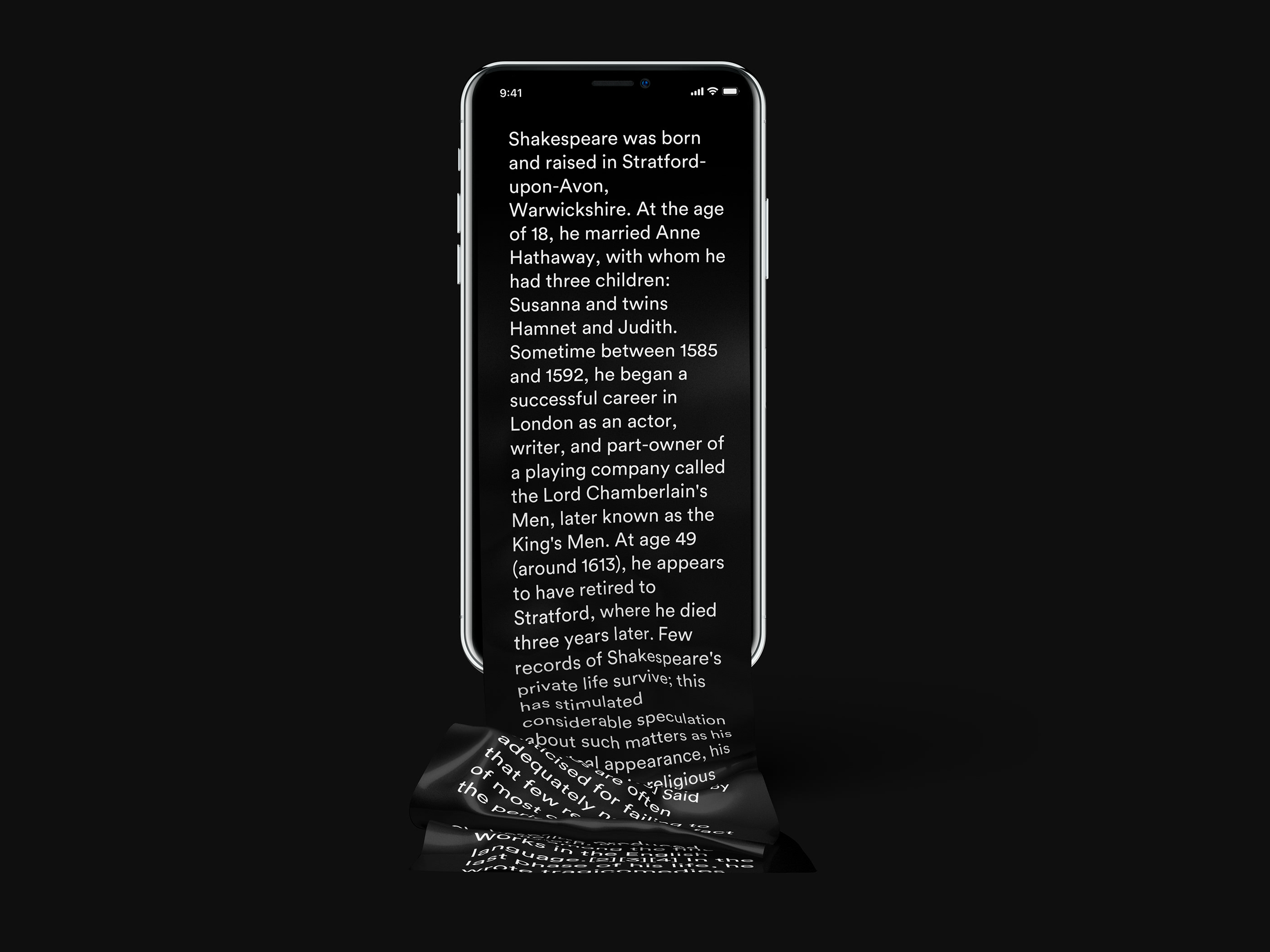 Free Long Scroll iPhone X Mockup