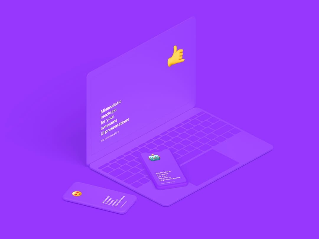 Super clean and minimalistic devices mockup bundle. 38 awesome scenes