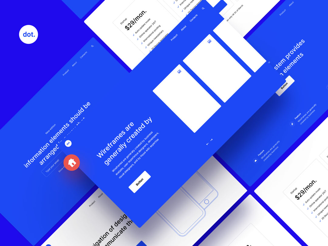 Prototype fast and easy with 'ready to go' wireframe pack