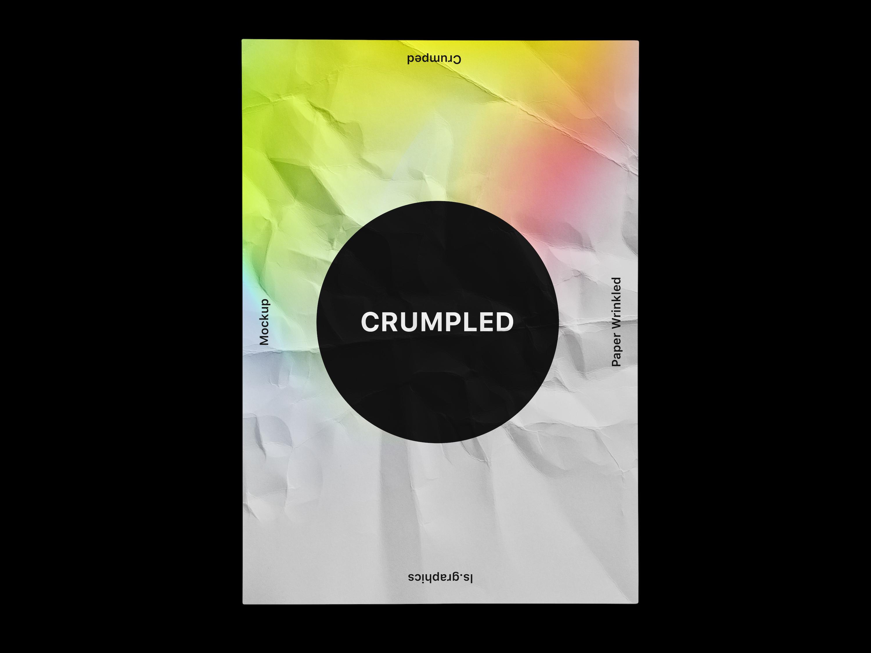 Free Crumpled Paper Mockup