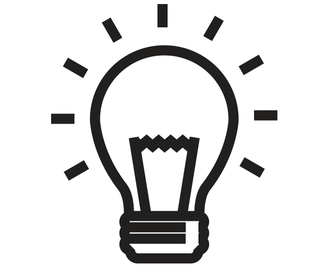 creative lightbulb design icon