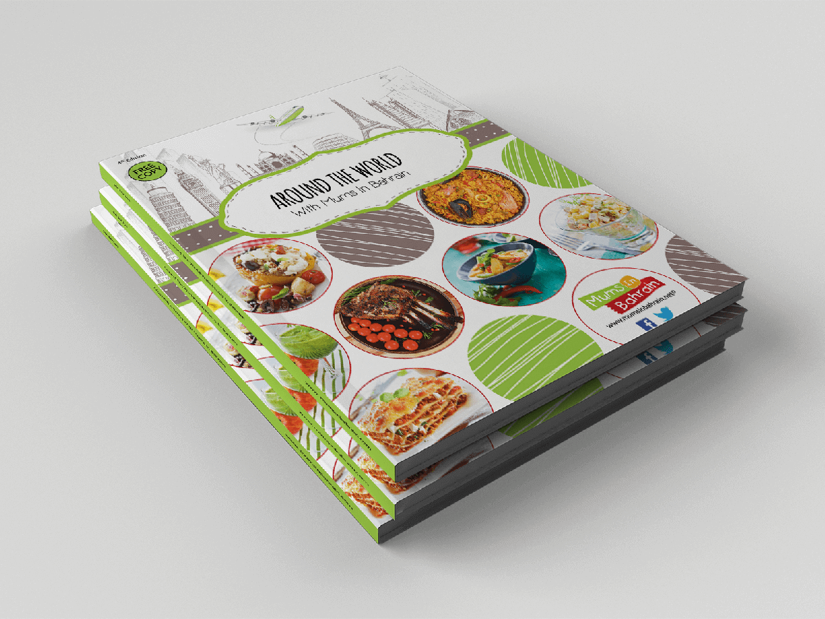 Cookbook magazine and graphic design