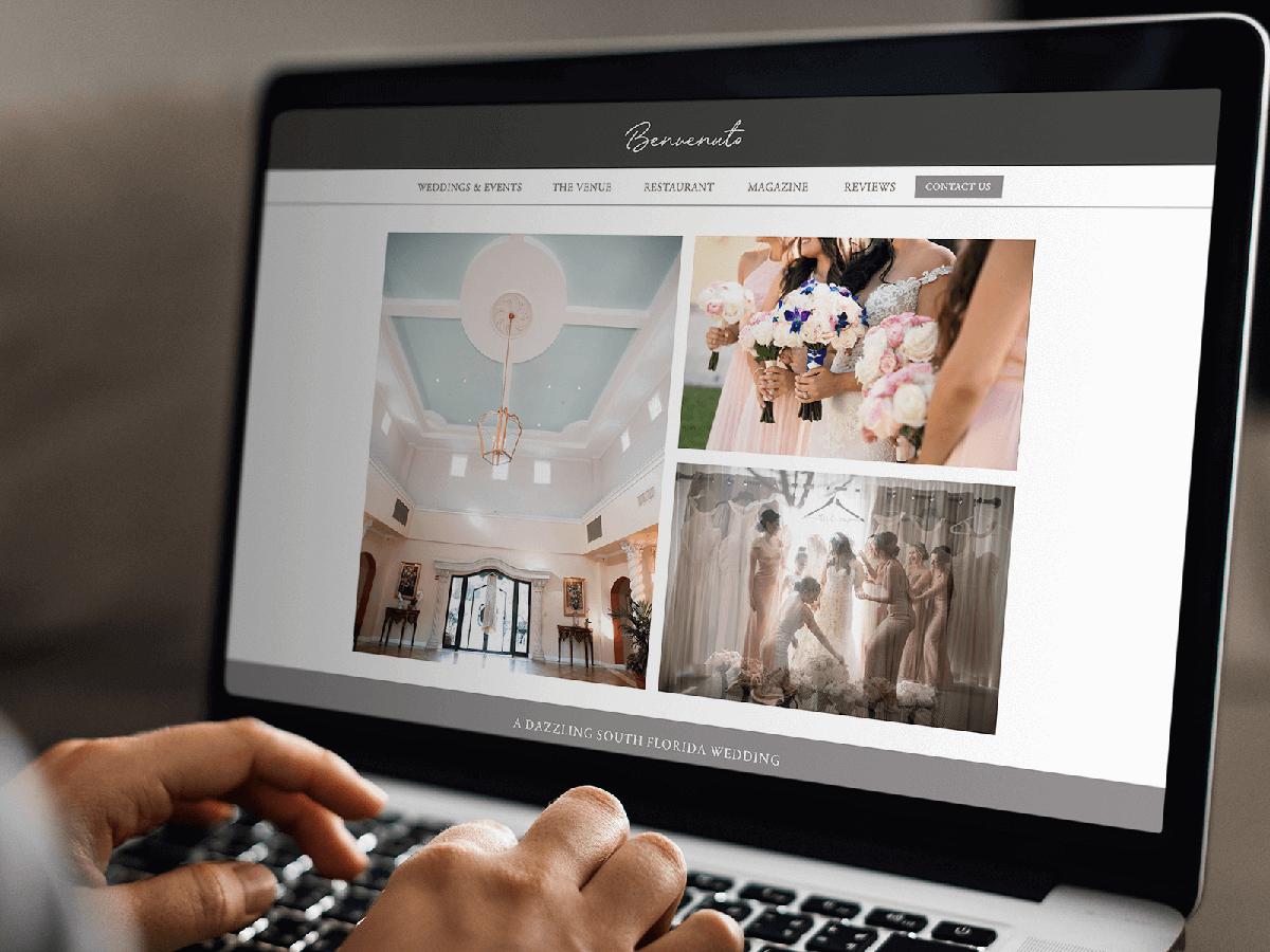 Wedding venue website and development
