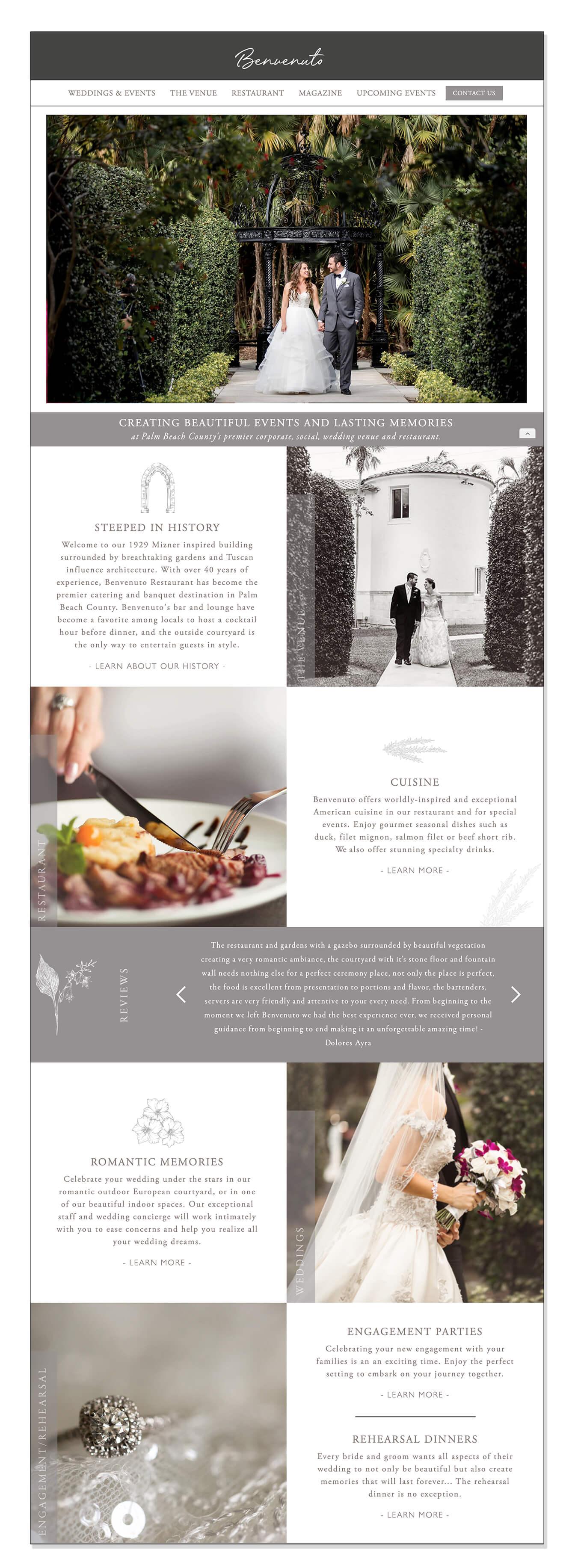 wedding venue new website