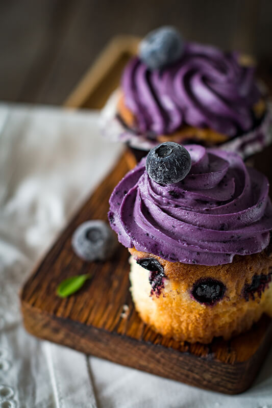 Blueberry-cupcakes
