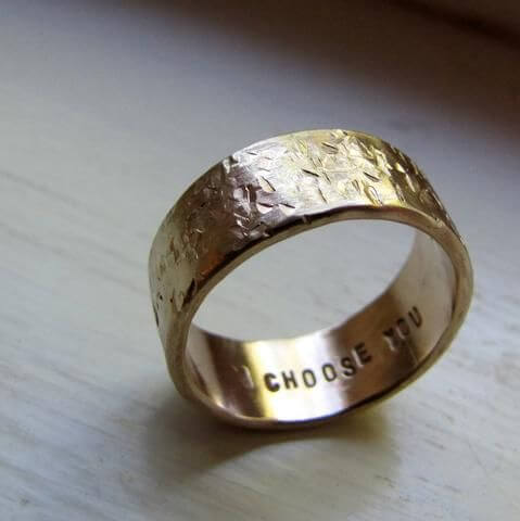 secret custom wedding ring engagements