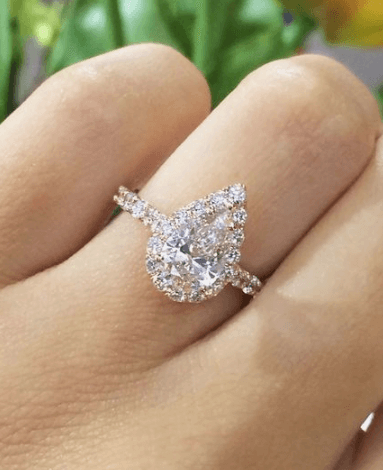 Pear Cut engagement Ring Pittsburgh