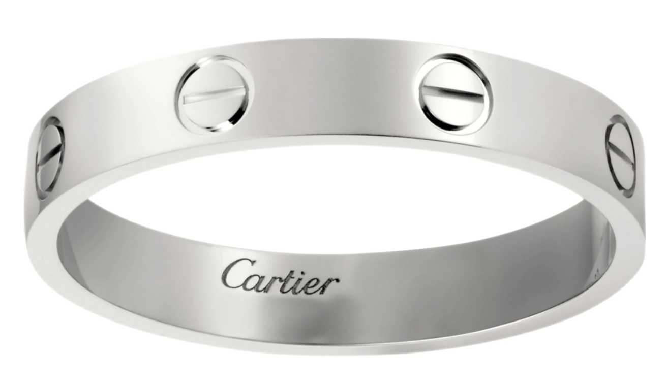 cartier engraved ring