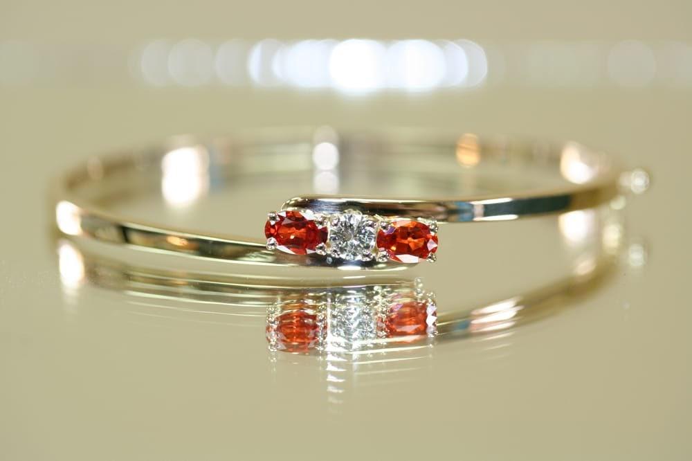 bracelet with red gemstones