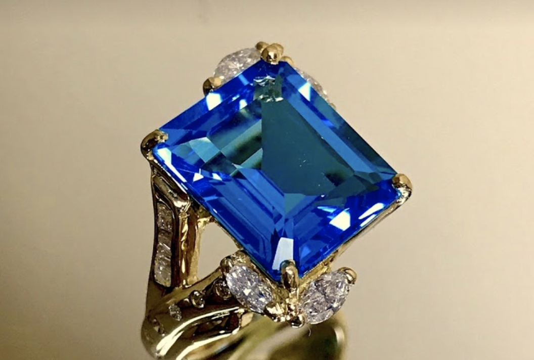 ring with blue gemstone