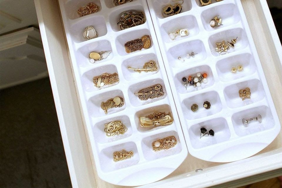 tray of jewelry