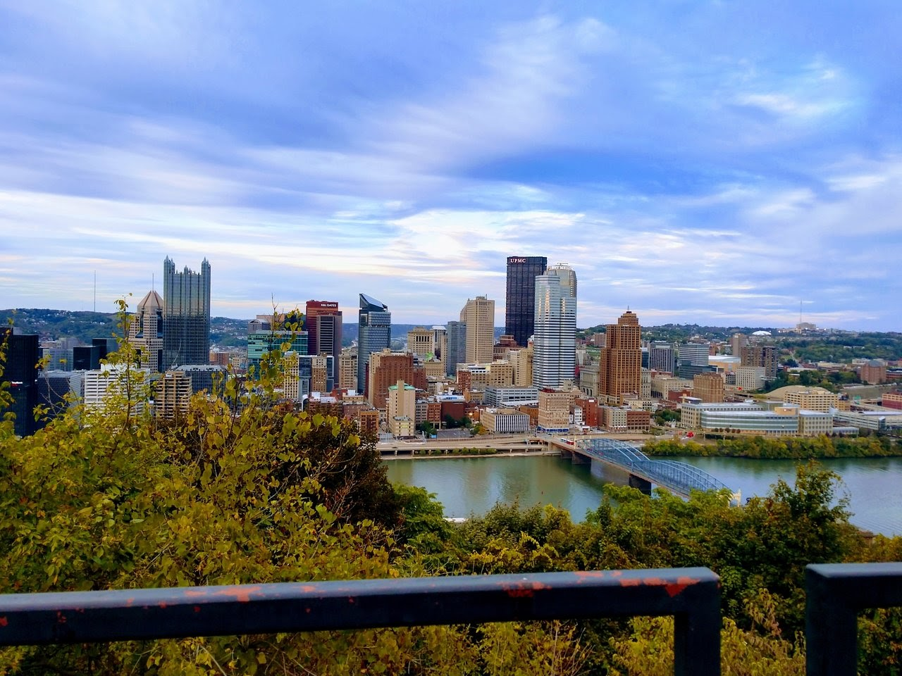 view of downtown pittsburgh from mount washington