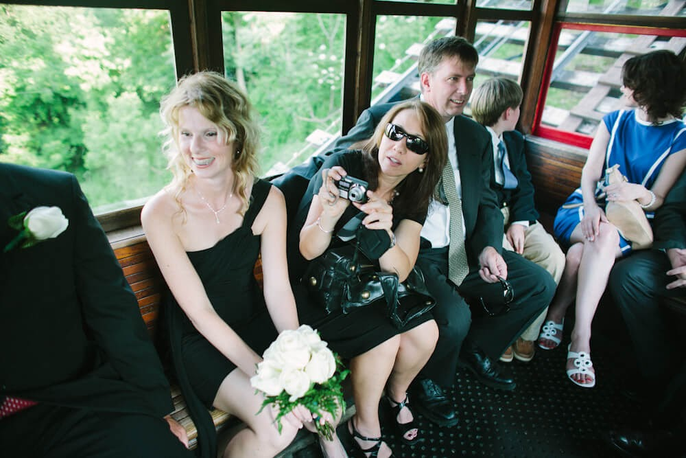 wedding party on the duquesne incline