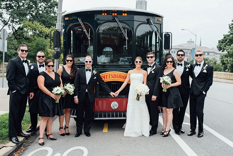 Pittsburgh trolley for a wedding