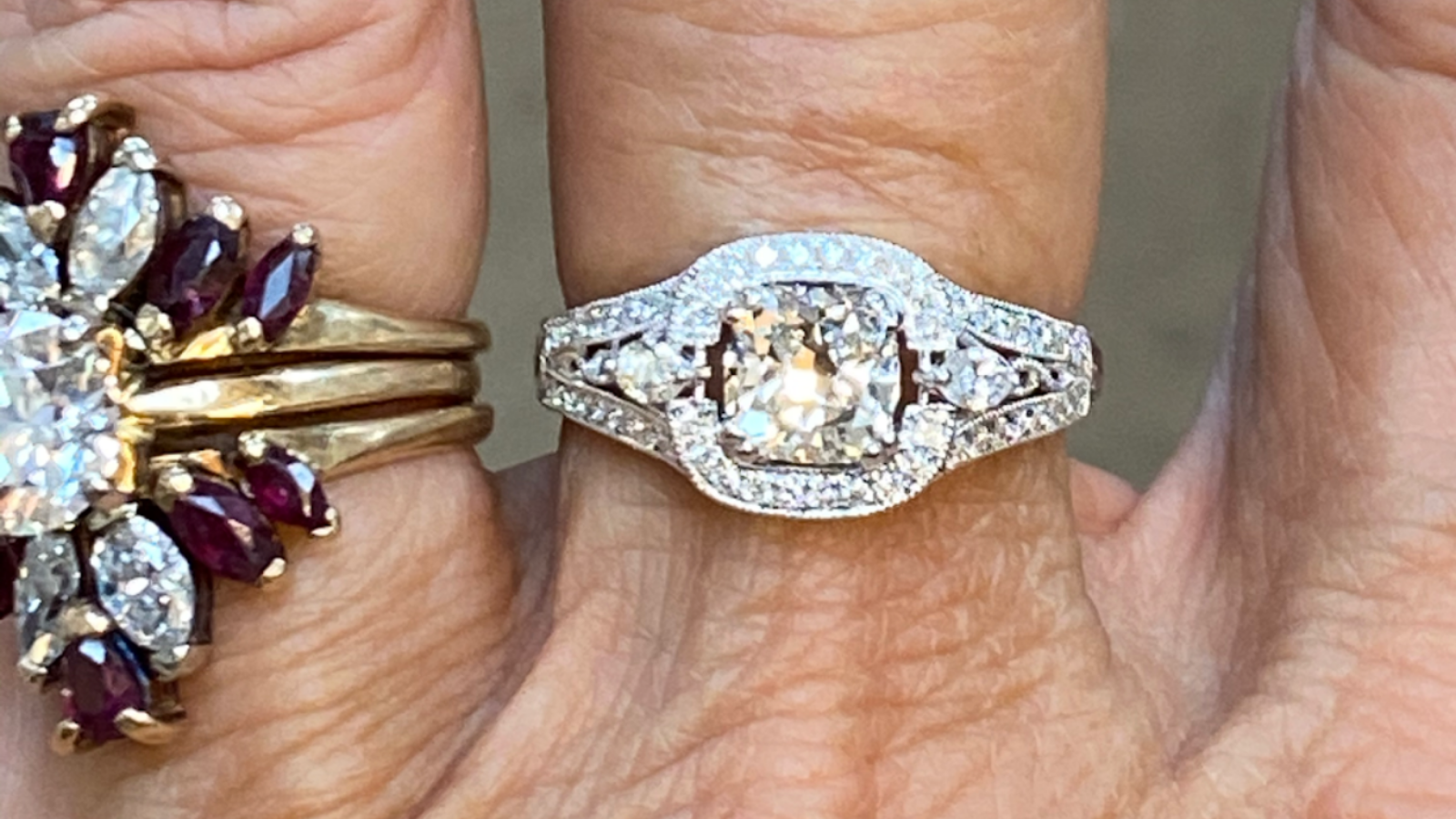 closeup of two rings by Lisa Marie Kotchey