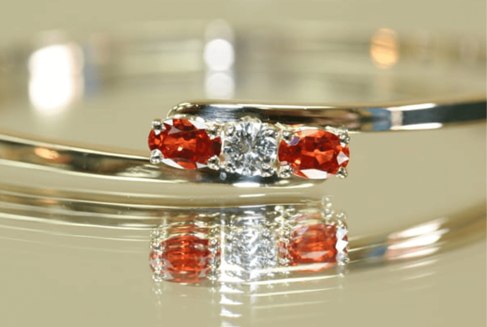 ring with red jewels