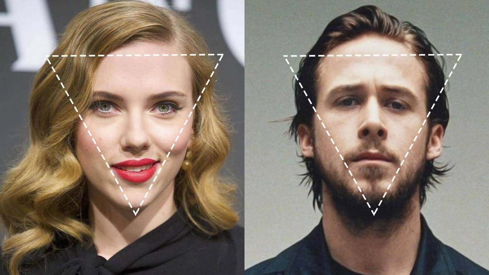 celebrities with triangle face shape