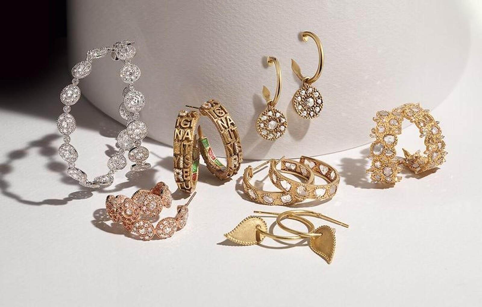 various hoope earrings