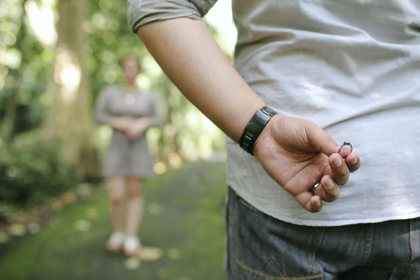 a man proposing to a woman