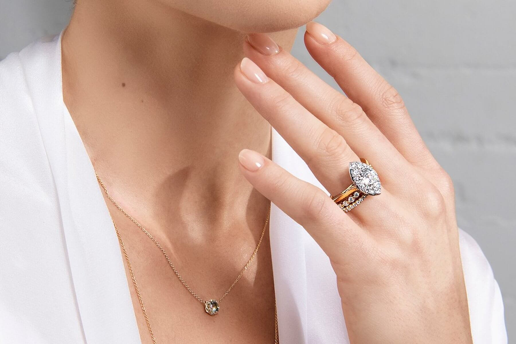 mixed metal engagement ring