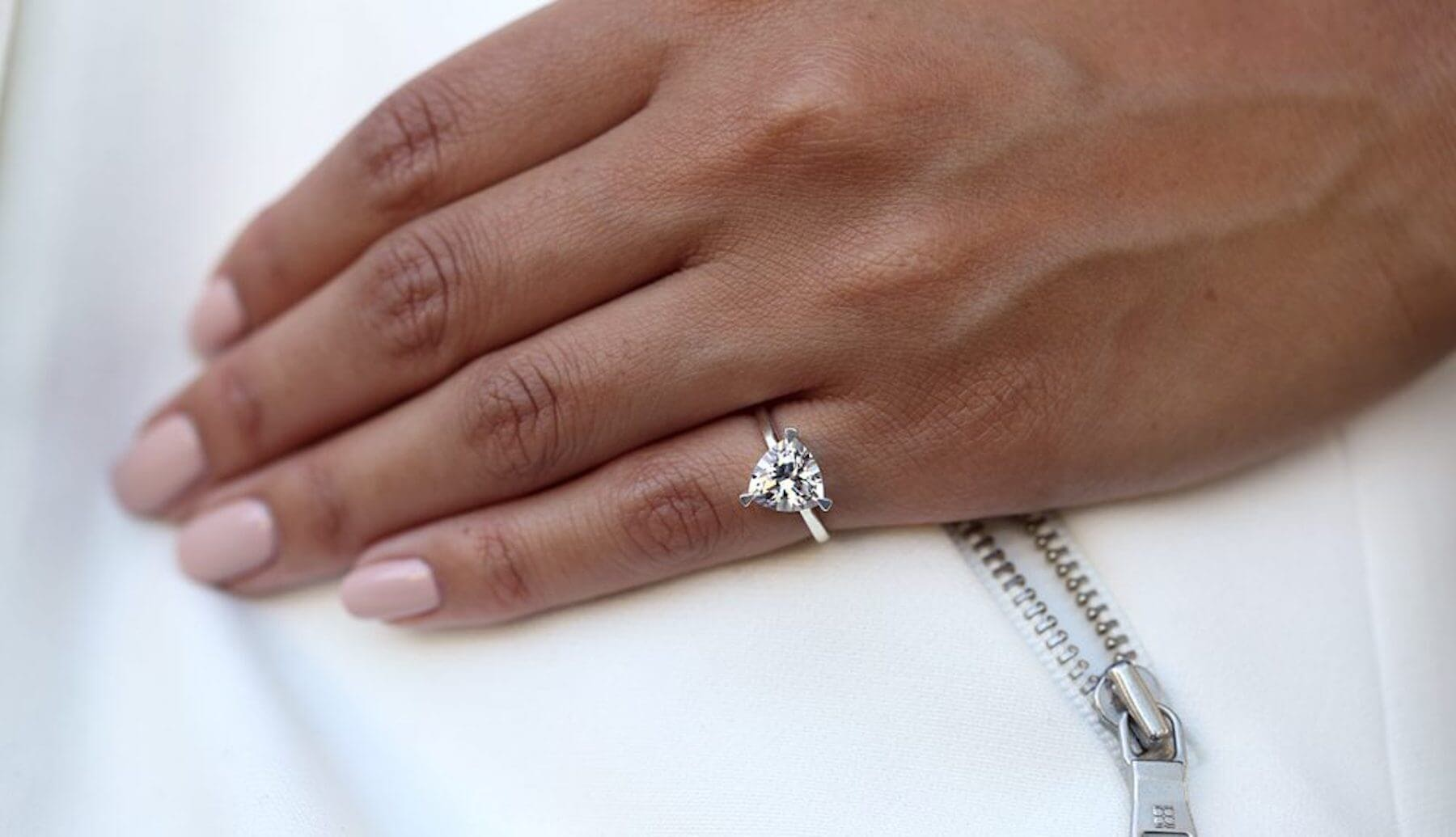 a ring on a pinky finger