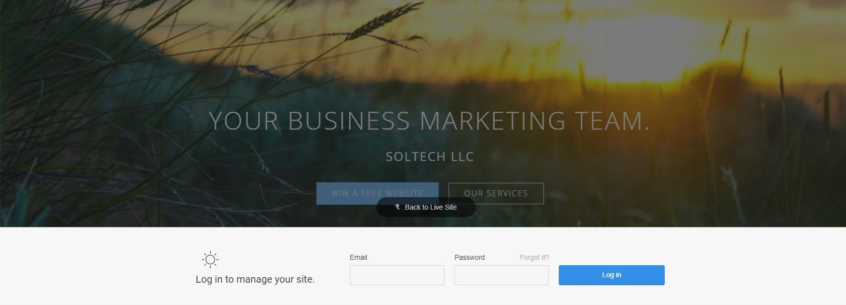 SolTech's Website Editor Compared with WP and Squarespace
