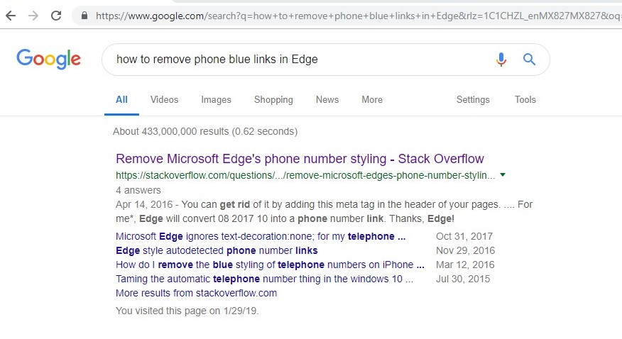 How to remove the annoying blue links for numbers