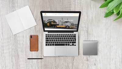 Diseño de sitio web de empresa de camiones