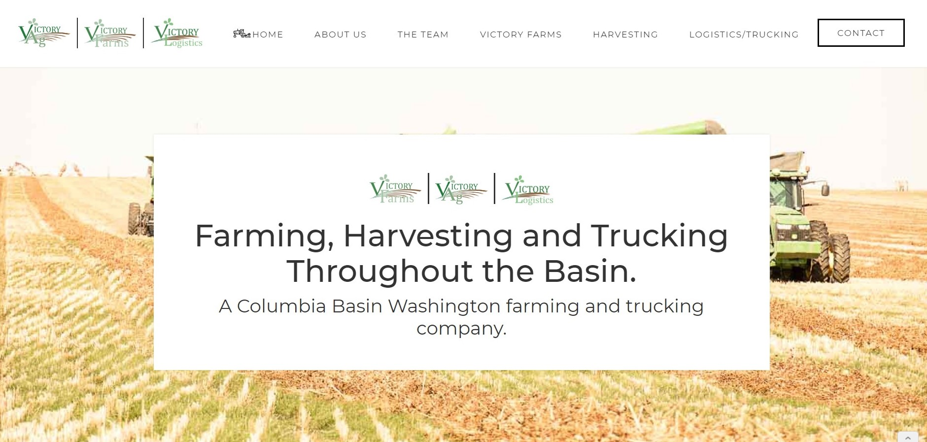 Columbia Basin Farm Website Design