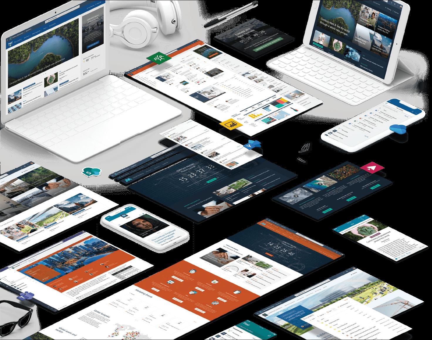 SharePoint vizualy obrazoviek