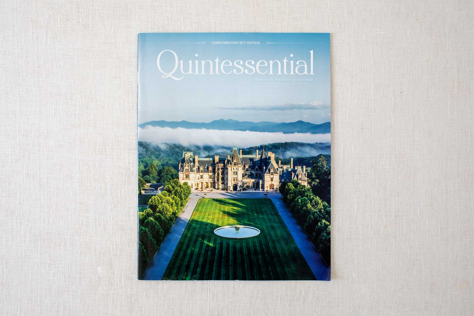 Biltmore Estate Quintessential Magazine cover with Biltmore House front in Spring