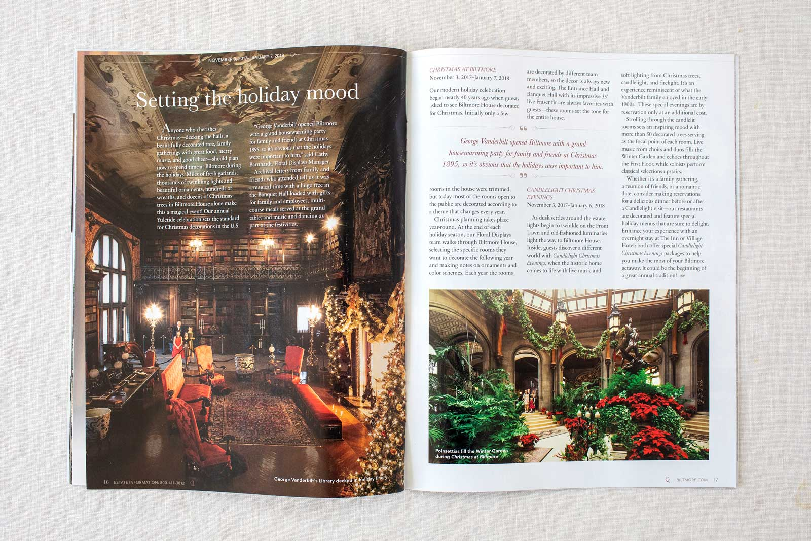 Biltmore Estate Quintessential Magazine spread