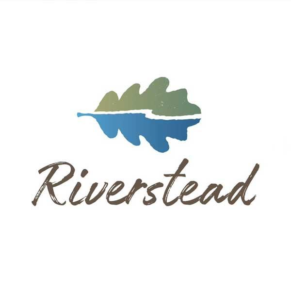 Riverstead logo of an oak leaf and river scene