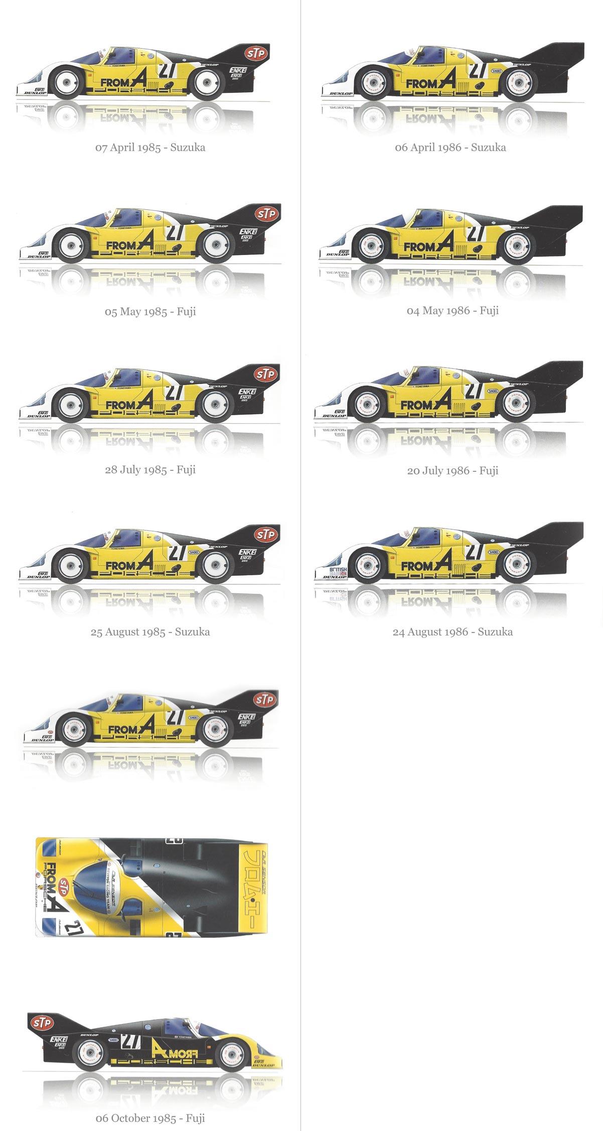 1985 - 1986 Nova Racing livery designs