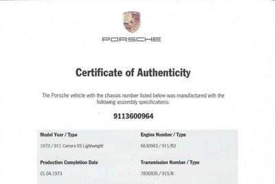 For Sale 1973 Porsche 911 Carrera 2.7 RS Lightweight - M471  22