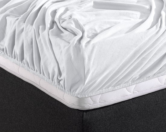 Home Care Boxspring Hoeslaken - Eenpersoons - 90 x 200 cm - Wit