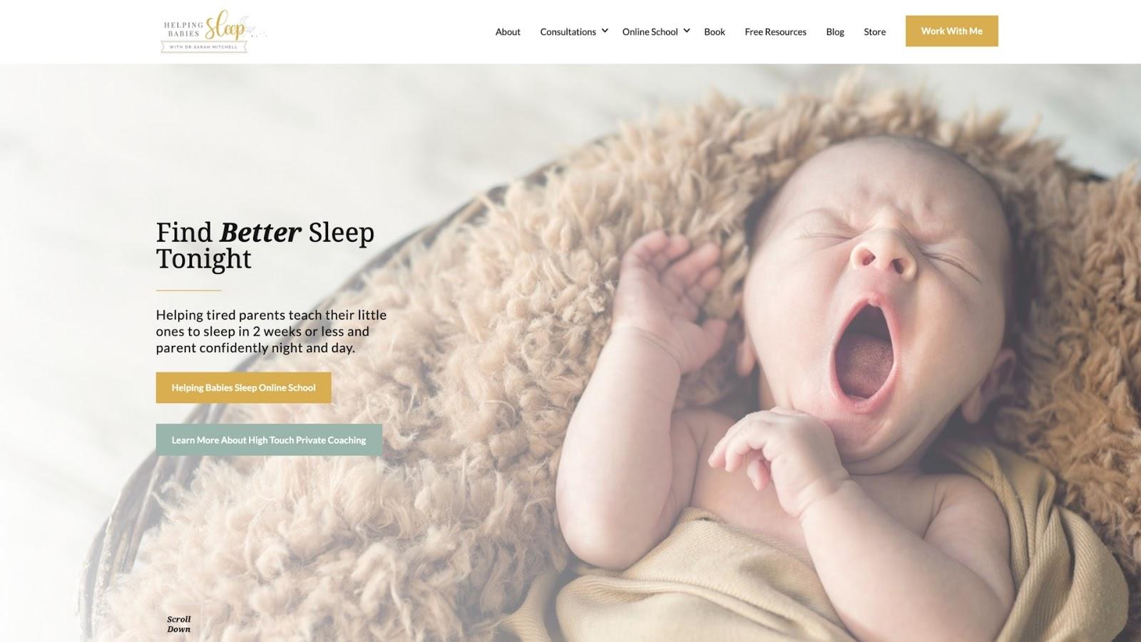 StoryBrand Sleep Coach Example