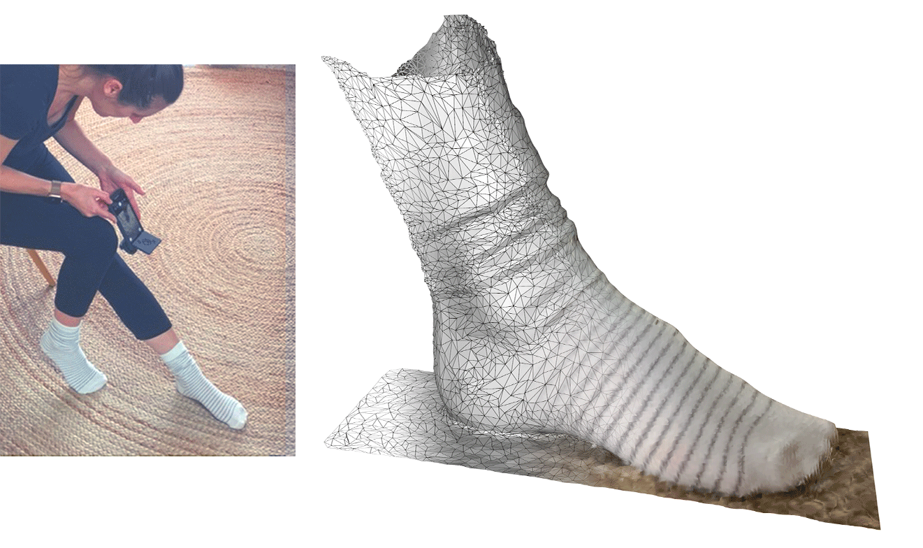 foot scanning and foot mesh