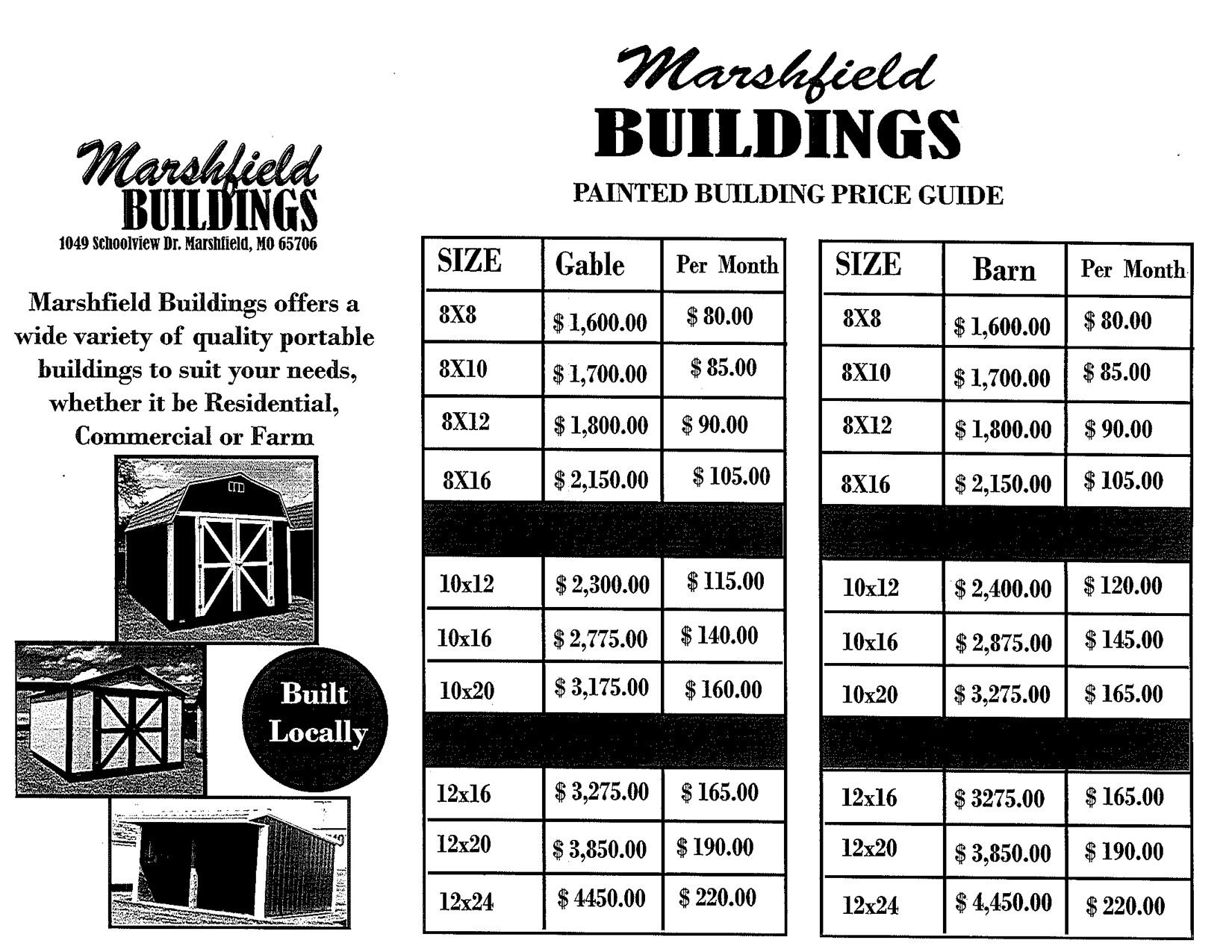 Portable Buildings & Barns | Marshfield Buildings | Missouri