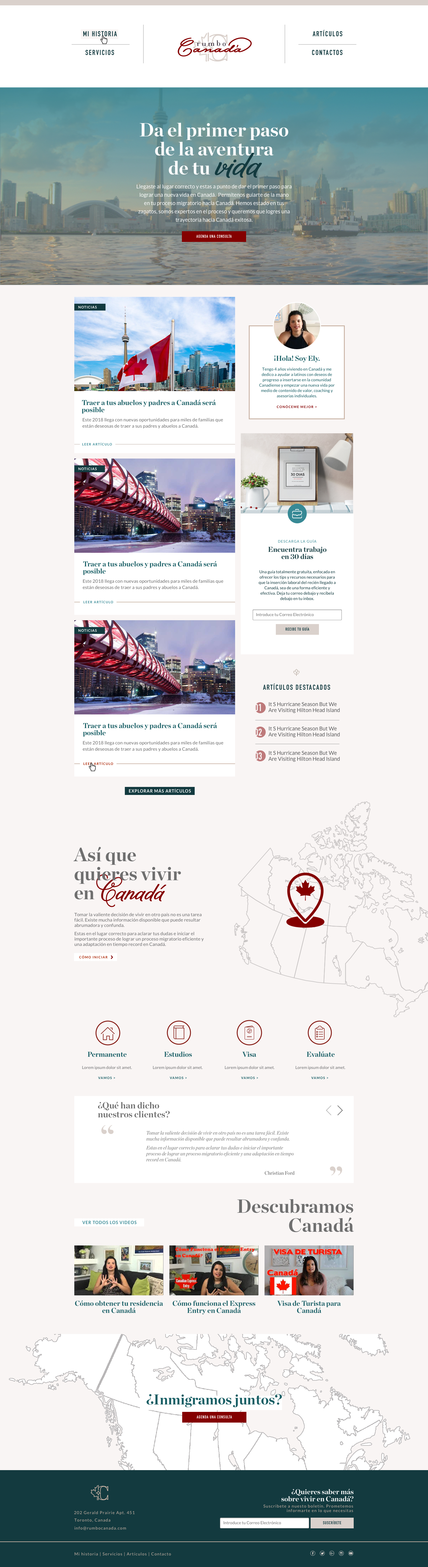 Canada Web Design Inmigration Consulting Services Branding
