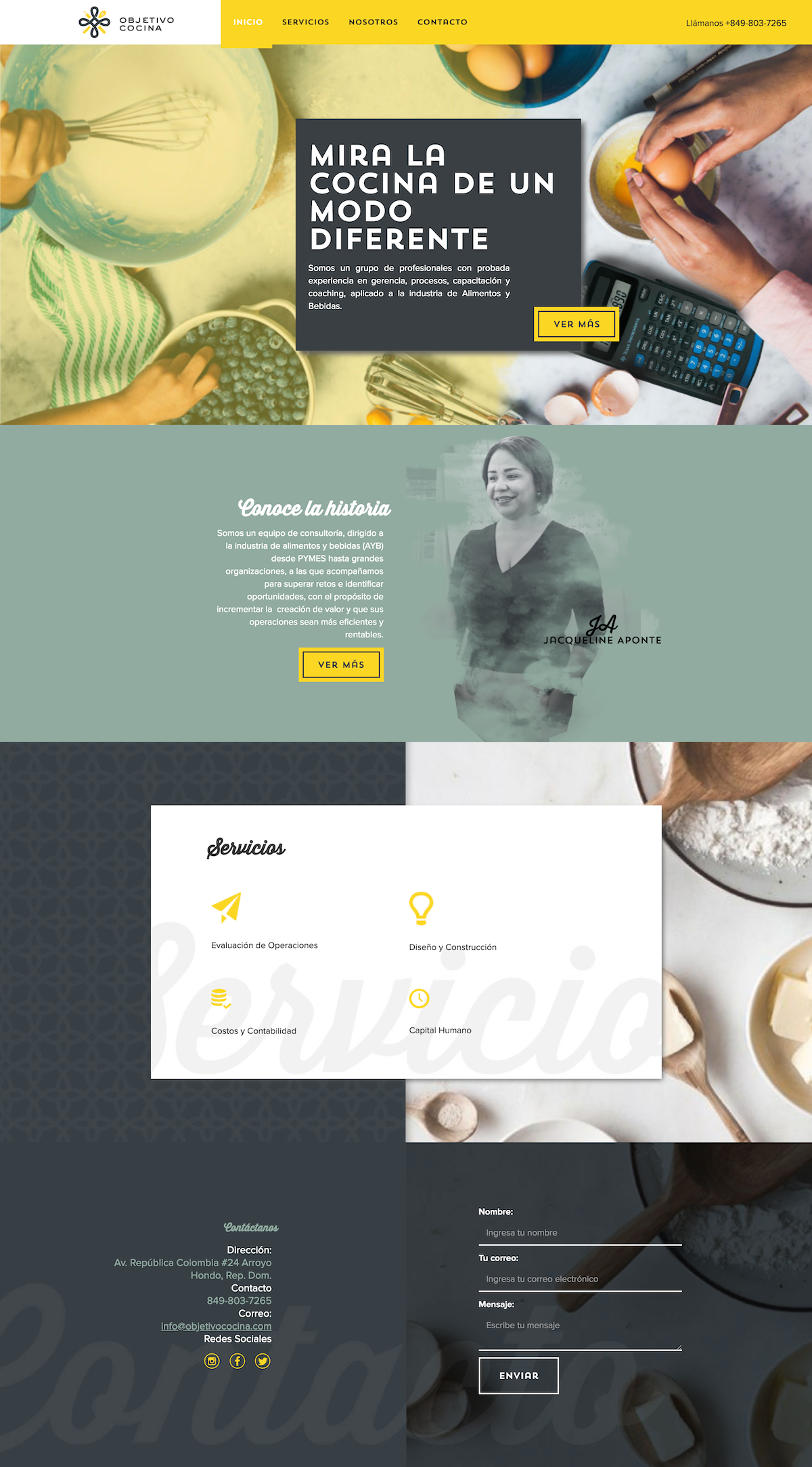 Dynamic Squarespace Website Chef Kitchen Food