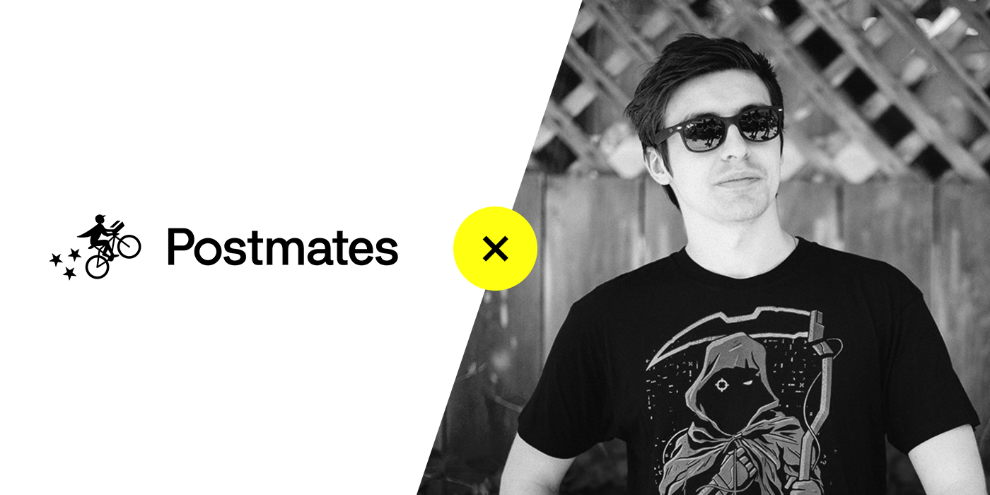"""Popular gamer Michael Grzesiek, also known as """"Shroud,"""" partnered with Postmates and offered free delivery credits with a special code. He is pictured here wearing sunglasses and his reaper tee (which fans can buy)."""
