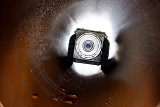 Drain inspection camera in drain
