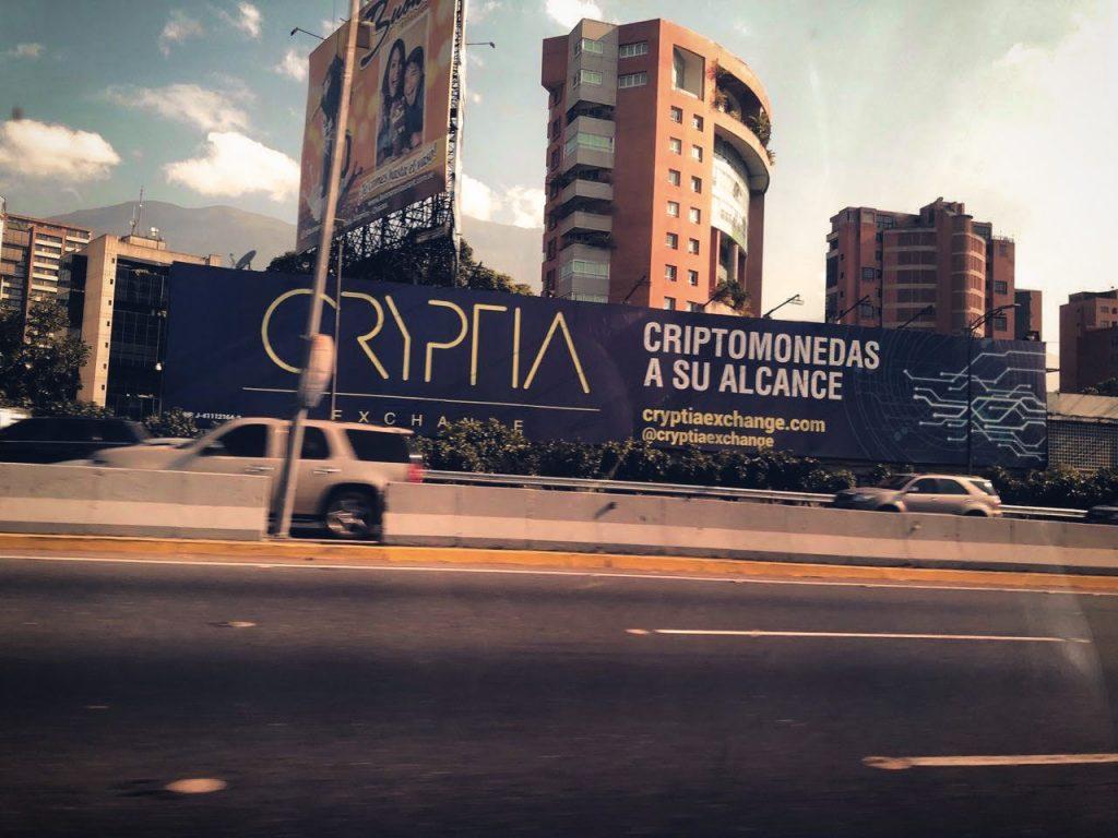 Caracas, Venezuela – Cryptocurrency billboards are the norm